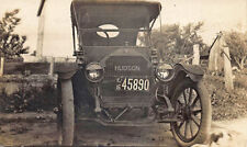 License Plate #45890 1916 New Jersey Early Hudson Automobile Postcard