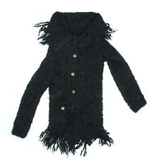 Comme des Garcons - Rare Mohair Cardigan Sweater Jacket - Black Fringe  US Small