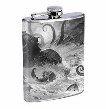 Flask Kraken 01R 8oz Stainless Steel Hip Drinking Whiskey