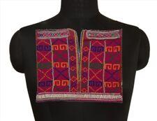 "New listing Sanskriti Vintage Antique Neck Patch Applique Hand Beaded Afghan Work 12""X12"""