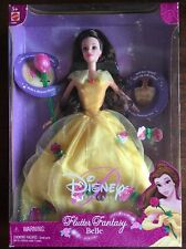 Disney Princess Flutter Fantasy Belle Doll (lights/chimes) Mattel NEW 2002 NRFB
