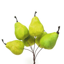 Artificial Decorative Mini Pear Bundle, 2-Inch, 6-Count