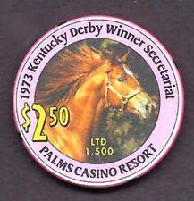 SECRETARIAT PALMS CASINO KENTUCKY DERBY $2.50 LIMITED EDITION HORSE RACING CHIP!