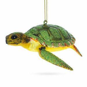Sea Turtle Glass Christmas Ornament