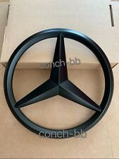 MERCEDES A,C,B,GLA,GLK,CLA,SLK,CLS,E FRONT GRILLE STAR BADGE Matt Black (Add On)