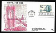 #2041 20c Brooklyn Bridge - Under Construction Cachet - Jim Agrian FDC