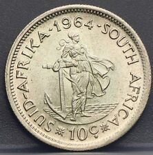Zuid Afrika - South Africa 10 cents 1964 Silver KM# 60 - Nice!