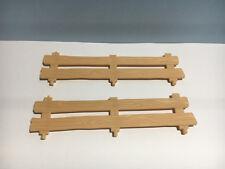PLAYMOBIL –  2 barrières en bois / Wooden fence / 4188 4207 5004 5227 5877