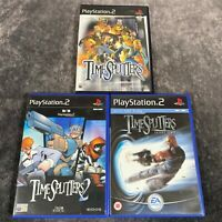 TimeSplitters 1 2 + Future Perfect PS2 PlayStation 2 Game Bundle x3 Black Label