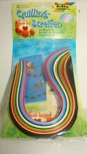 Folia Quilling Streifen 280 Papierstreifen verschiedenen Farben und in 2 Größen