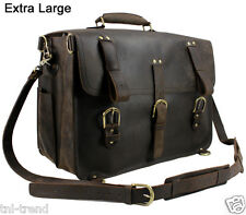 Vintage Men's Thick Genuine Leather Luggage Backpack Large Travel Bag Duffle Bag