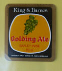 VINTAGE BRITISH BEER LABEL - KING & BARNES BREWERY, BARLEY WINE GOLDEN ALE