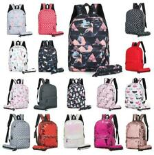 Boys Girls Retro Backpack Rucksack School College Travel Laptop Canvas Bag UK