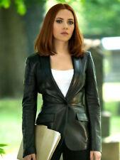 Jitrois Black Stretch Leather Jacket Blazer sz 40 US 6 - 8