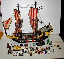 Vintage Lego Pirate Ship w/ Figures Shark Crocodile Horses Cannons Parts +More