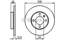 BOSCH Juego de 2 discos freno Antes 239mm SEAT IBIZA VOLKSWAGEN 0 986 478 011