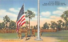 PC 21 RETREAT ARMY AIR FORCES TYNDALL FLORIDA PATRIOTIC MILITARY POSTCARD 1940s