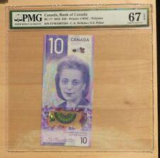 2018 Bank Of Canada $10 Dollar Bc-77 Pmg 67 Epq Gem Unc Viola Desmond Banknote