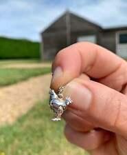 Sterling Silver Chicken Hen Jewellery Charm