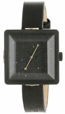 NEW Vivienne Westwood Women's VV008MBKBKNC Cube Watch With Black Leather Band ,.