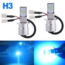 H3 Cree Led Fog Light Bulb Conversion Kit Super Bright Canbus 8000K Ice Blue 70W
