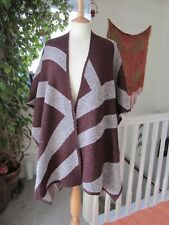 Monsoon Oversized Wrap Cardigan / Open Shawl Size M/L Warm in Excellent Cond.