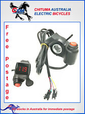 Thumb Throttle Handle Electric Bicycle Scooter 12V 80V Display and 3-way Switch