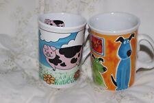 2 Mug Cup Tasse à café Pigs & Dogs
