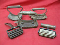 Antique Lot of 5 Antique Cast Iron Fluters for Clothing