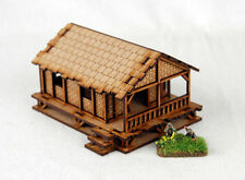 Far east ou jungle tissé palm style maison de village low 15mm laser cut mdf K504