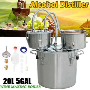 Moonshine Still Spirits 5 Gal 3 Pot Kit Water Alcohol Distiller DIY Home Brewing