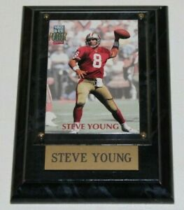 1992 PRO SET POWER #108 - Steve Young - San Francisco 49ers Card in Wall Plaque