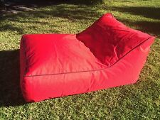 Lounger Bean Bag Chair Sofa Indoor Outdoor Water Resistant Day Bed - RED