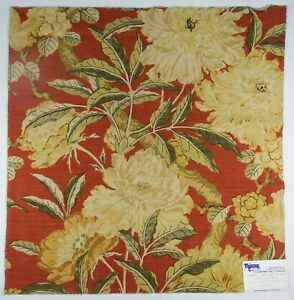 "Braemore-Royal Court/Persimmon | 26"" Memo Square | Floral | Cotton/Rayon Fabric"