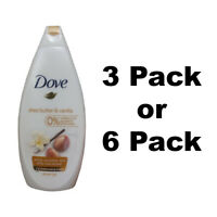 Dove Body Wash Shea Butter and Vanilla 500ml/16.9oz Selected Pack