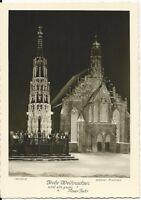 Ansichtskarte Nürnberg - Schöner Brunnen - Frauenkirche bei Nacht - schwarz/weiß