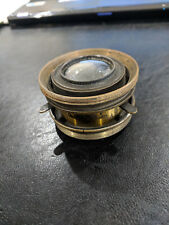 Antique 1860's Portrait Brass Wide Angle Lens Darlot Opticien Paris (527)
