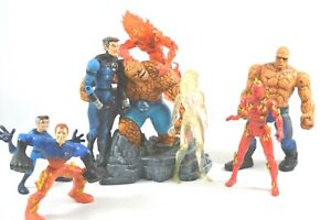 FANTASTIC FOUR FIGURES, VINTAGE, MODERN, THING, HUMAN TORCH,ASTRONAUGHT