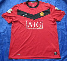 MANCHESTER UNITED home shirt jersey NIKE 2009-10 Red Devils trikot adult SIZE XL