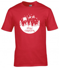 Merry Christmas Kids Children T-Shirt Girls Boys Christmas Gift Tee Top