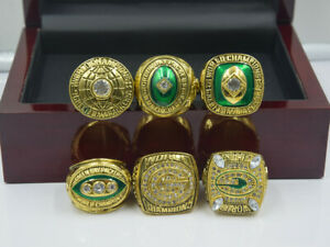 6PCS Green Bay Packers Championship Ring --//
