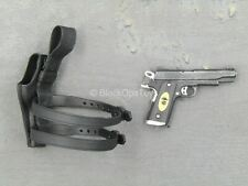 1/6 scale toy The Expendables 2 - Barney Ross - 1911 Pistol w/Holster (Left)