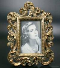 Barock Bilderrahmen Fotorahmen Rechteckig Stil Rokoko Rahmen Farbe Gold Antik