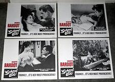 SCHOOL FOR LOVE orig lobby card set BRIGITTE BARDOT/JEAN MARSAIS 11x14 posters