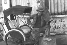 Vietnam 1971 - Saigon Pedicab Driver Taking A Break
