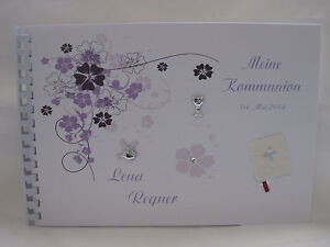 Gästebuch Din A4 Konfirmation Kommunion Taufe in vielen Farben.