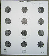 CCT A-36 50 FT. Rifle Target 10 bulls +2 Sighters Quality Targets made in Canada