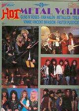 Hot Metal Guitar Tab songbook vol 2  Metallica Faster Pussycat Van Halen Tesla