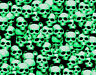 "1 LARGE STICKER BOMB SHEET GREEN SKULLS JDM HONDA DECAL 24"" x 48"" 3M WRAP VINYL"