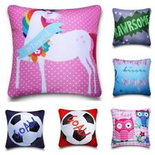 Boys Girls Character Cushion Cover Unicorn Mermaid Football Dinosaur 40 x 40cm
